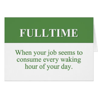 Cartes Travail d'un emploi à plein temps (2)
