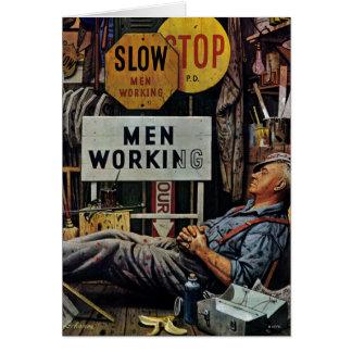 Cartes Travailler d'hommes