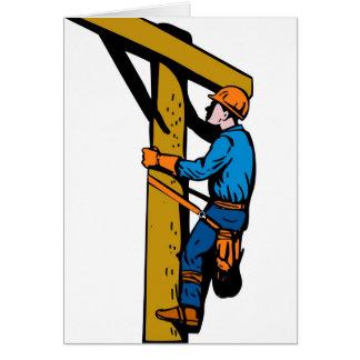 Cartes Travailleur électrique d'électricien de monteur de