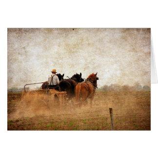 Cartes Travaux sur le terrain actionnés par cheval,