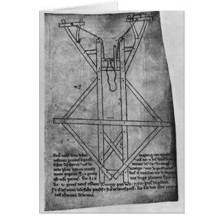Cartes Trebuchet, machine pour jeter des flèches