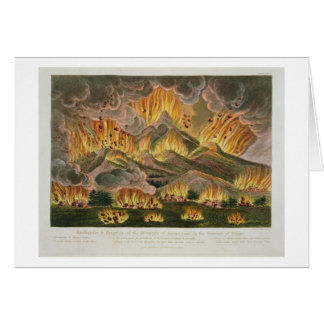 Cartes Tremblement de terre et éruption de la montagne
