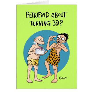 Cartes Trente-neuvième anniversaire drôle