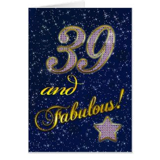 Cartes trente-neuvième anniversaire pour quelqu'un