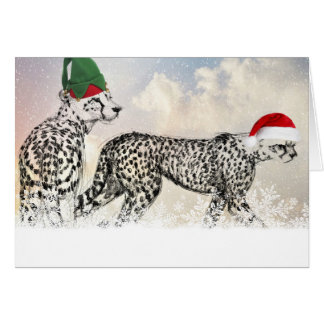 Cartes Très Noël de guépard