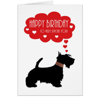 Cartes Très spécial vous avec l'écossais Terrier -