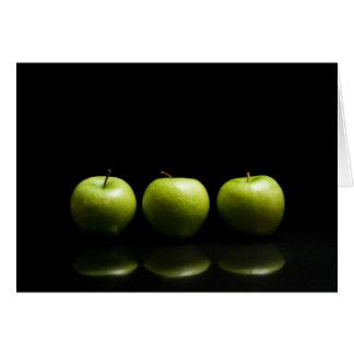 Cartes Trio vert d'Apple