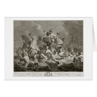 Cartes Triumph de Britannia, c.1765 (gravure)