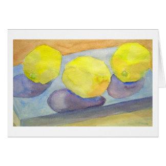 Cartes Trois citrons