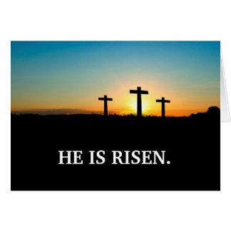 Cartes Trois croix sur le calvaire Pâques