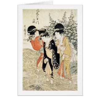 Cartes Trois filles barbotant en rivière, de la 'mode