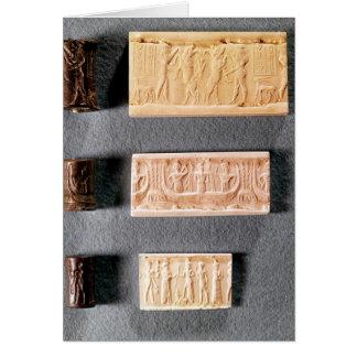 Cartes Trois joints de cylindre avec des impressions,