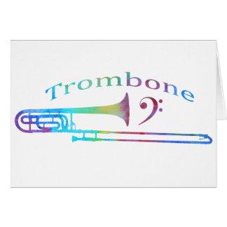 Cartes Trombone avec la clef basse