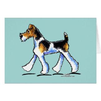 Cartes Trot de Fox Terrier de fil