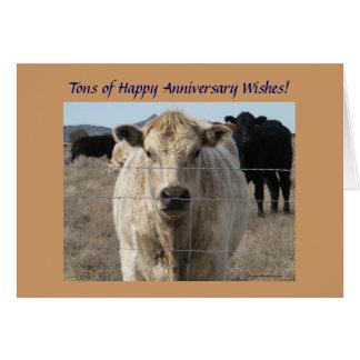 Cartes Troupeau de bovins occidental d'anniversaire de