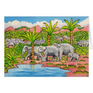 Cartes Troupeau d'éléphants