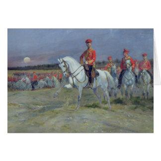 Cartes Tsarevich Nicolas passant en revue les troupes,