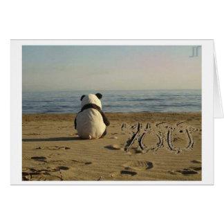 """Cartes """"Tu me manque"""" panda"""