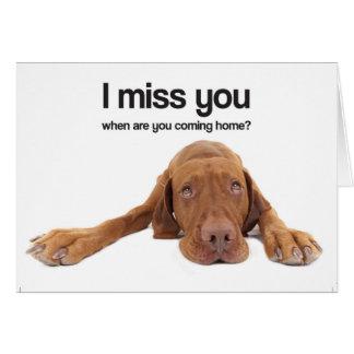 Cartes Tu me manque (Vizsla)