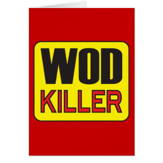 Cartes Tueur de WOD - séance d'entraînement et