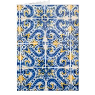 Cartes Tuile bleue et jaune, Portugal