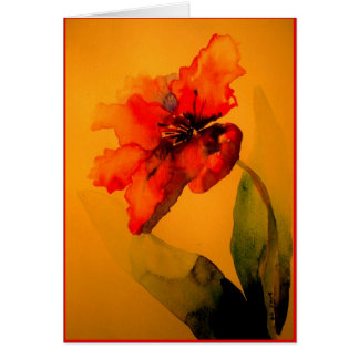 Cartes tulipe de perroquet
