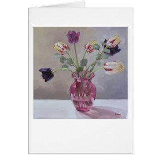 """Cartes """"Tulipes dans le rose """""""
