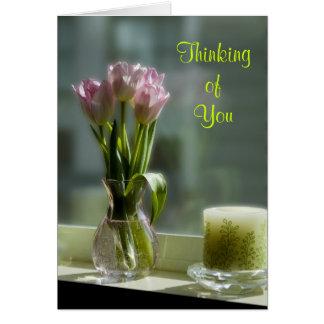 Cartes Tulipes roses pensant à vous