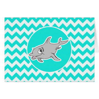 Cartes Turquoise, couleur Chevron d'Aqua ; Dauphin