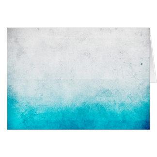 Cartes Turquoise et aquarelle affligée par Ombre blanche