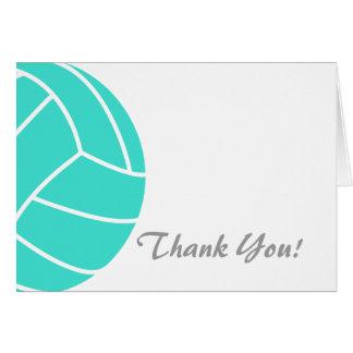 Cartes Turquoise ; Volleyball de vert bleu