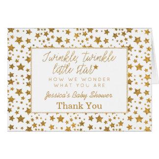 Cartes Twink, scintillement peu de Merci de baby shower