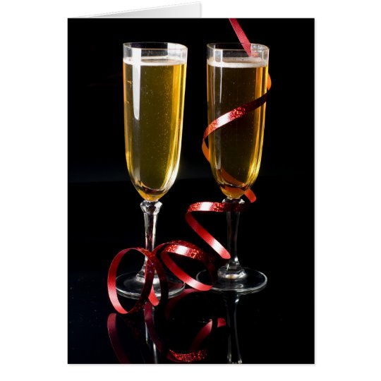 Cartes two champagne flute