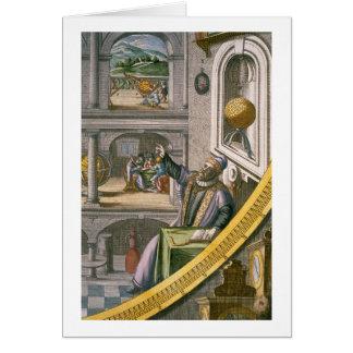 Cartes Tycho Brahe (1546-1601) a vieilli 40, parmi son