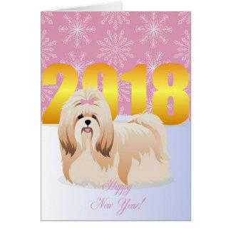 Cartes Tzu de shih de bonne année
