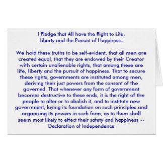 Cartes ! ! ! U créent la déclaration d'indépendance