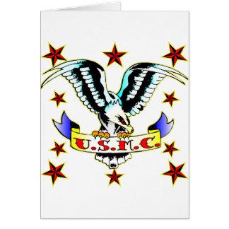 Cartes U.S.M.C. Tatouage 2 d'Eagle de vieille école
