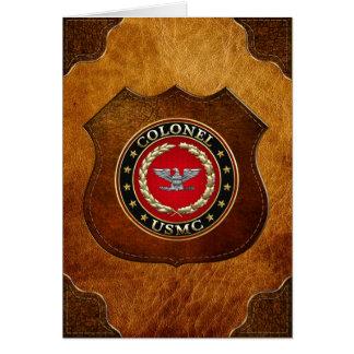 Cartes U.S. Marines : Colonel (Col d'usmc) [3D]