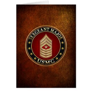 Cartes U.S. Marines : Commandant de sergent (usmc SgtMaj)