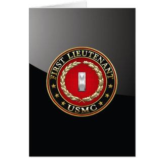 Cartes U.S. Marines : Premier lieutenant (usmc 1stLt)