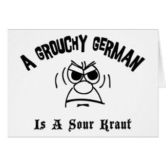 Cartes Un Allemand grognon est un Kraut aigre