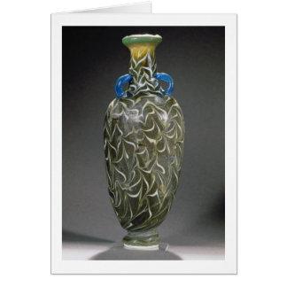 Cartes Un amphora noyau-formé avec des motifs de vague,
