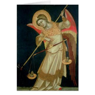 Cartes Un ange pesant une âme, c.1348-55