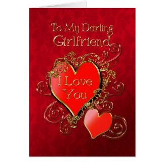 Cartes Un coeur pour montrer votre amour pour votre amie