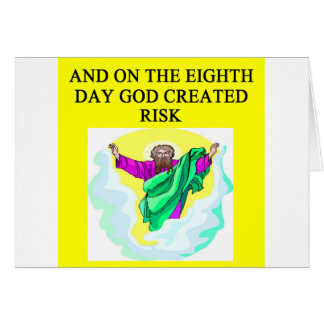 Cartes un dieu a créé le risque