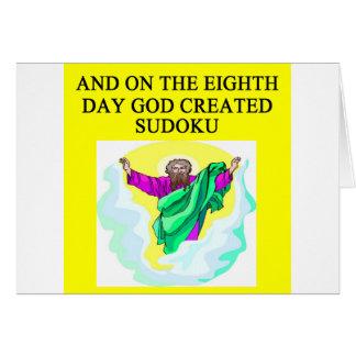 Cartes un dieu a créé le sudoku