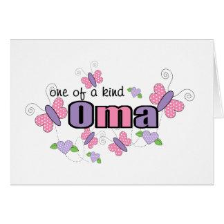 Cartes Un d'un Oma aimable