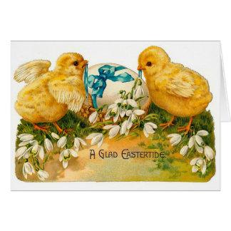 Cartes Un heureux Eastertide Pâques vintage mignonne