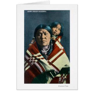 Cartes Un Indien Madonna de corneille et enfant