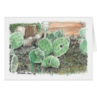 Cartes Un jardin privé de cactus